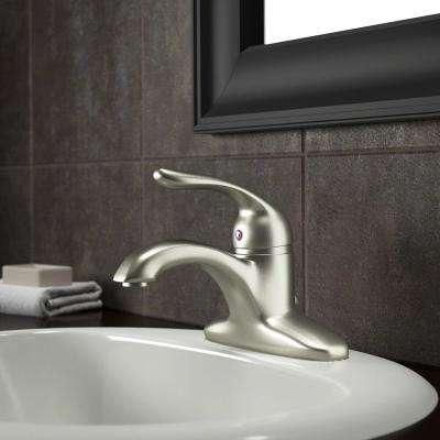 4 in. Centerset Single-Handle Bathroom Faucet in Brushed Nickel
