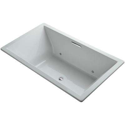 Underscore 6 ft. Rectangular Drop-In or Undermount Non-Whirlpool VibrAcoustic Bathtub in Ice Grey with Chromatherapy