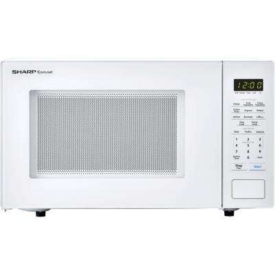 Carousel 1.1 cu. ft. Countertop Microwave in White