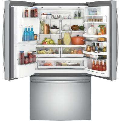 Profile 22.2 cu. ft. Smart French Door Refrigerator with Keurig K-Cup and Wi-Fi in Stainless Steel, Counter Depth