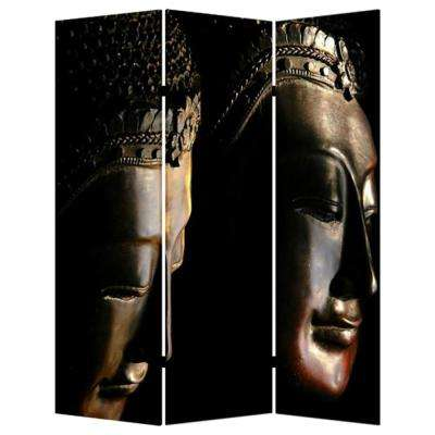 BUDDHA 6 ft. Multi-color 3-Panel Room Divider