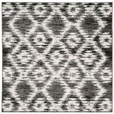 Adirondack Charcoal/Ivory 6 ft. x 6 ft. Square Area Rug