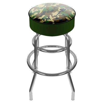 Hunting Camo 31 in. Chrome Swivel Cushioned Bar Stool