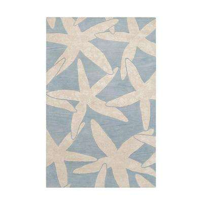 Starfish Blue 5 ft. x 8 ft. Area Rug