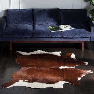 Cow Hide Brown/White 6 ft. x 7 ft. Area Rug