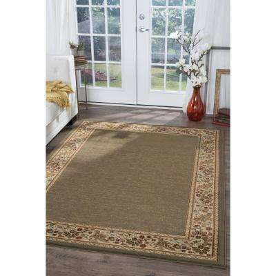 Sensation Green 8 ft. x 10 ft. Traditional Area Rug