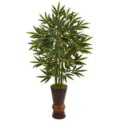 Indoor Bamboo Artificial Tree in Bamboo Planter