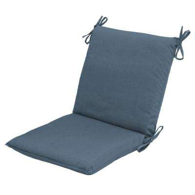 canvas sapphire outdoor dining chair cushion