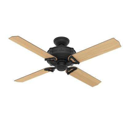 Brunswick 52 in. Indoor/Outdoor Natural Iron Ceiling Fan with Integrated Handheld Remote Control