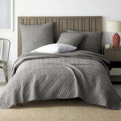 Hunter Solid Cotton Coverlet