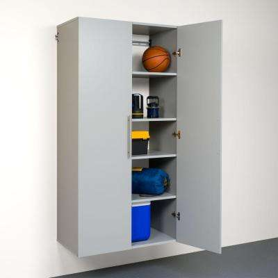 HangUps Collection 72 in. H x 36 in. W x 20 in. D Wall Mounted Cabinet Storage in Light Gray