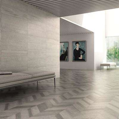 Stratos Chevron Gris 17-5/8 in. x 35-3/8 in. Porcelain Floor and Wall Tile (4 cases / 53.07 sq. ft. / pallet)