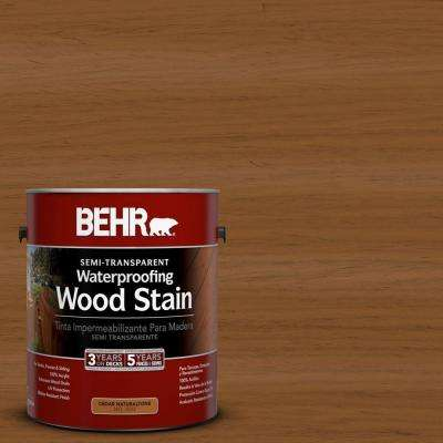 1-gal. #ST-115 Antique Brass Semi-Transparent Waterproofing Wood Stain