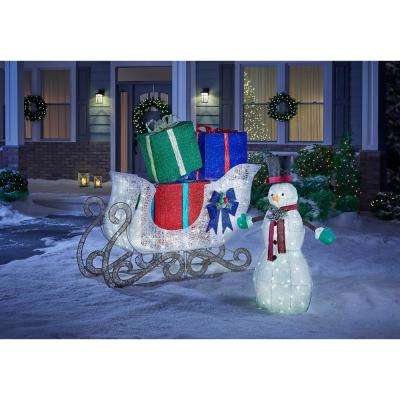 Sweet Serenity 61 in. Christmas LED Jumbo Sleigh with Presents