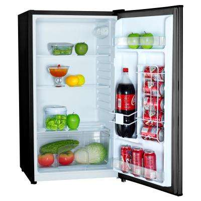 3.2 cu. ft. Mini Fridge with Freezerless Design in Black