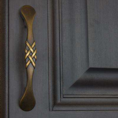 3 in. Center-to-Center Antique Brass Braided Cabinet Pulls (10-Pack)