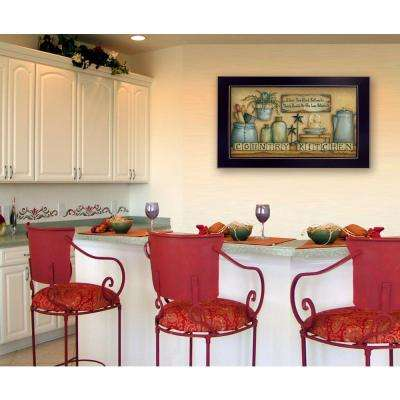 "9 in. x 18 in. ""Country Kitchen"" by Mary June Printed Framed Wall Art"