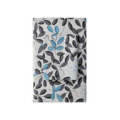 Shadow Leaf 200-Thread Count Cotton Percale Flat Sheet