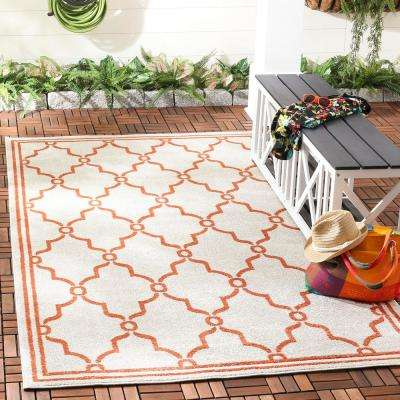 Amherst Beige/Orange 8 ft. x 10 ft. Indoor/Outdoor Area Rug