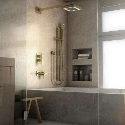 ZLINE Bliss 2-Spray Handshower and Showerhead Combo Kit in Polished Gold