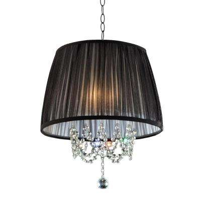3-Light Polished Chrome Eclipse Ceiling Lamp