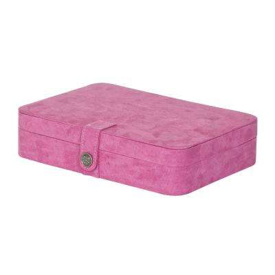 Maria Pink Plush Fabric Jewelry Box