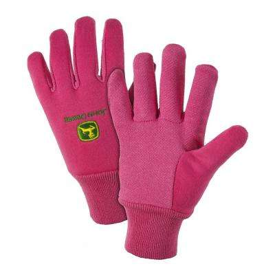 Cotton Jersey Ladies Large Light-Duty Grip Gloves