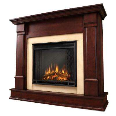 Silverton 48 in. Electric Fireplace in Dark Mahogany