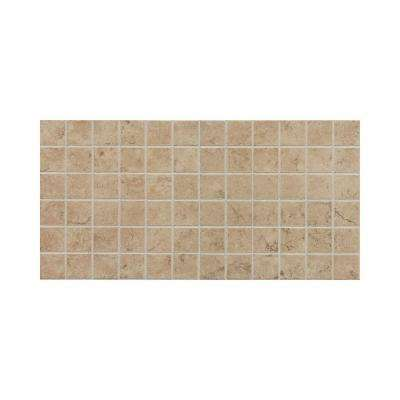 Fidenza Cafe 12 in. x 24 in. x 8 mm Porcelain Mesh-Mounted Mosaic Floor and Wall Tile (24 sq. ft. / case)