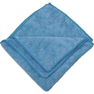 16 in. x 16 in. Blue Microfiber Cleaning Towel (Pack of 12)
