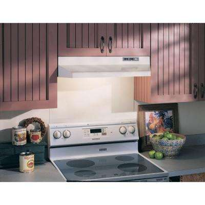 40000 Series 30 in. Under Cabinet Range Hood with Light in White