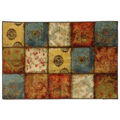 Mohawk Home Yellow Springs Patchwork Multi 1 ft. 8 inch x 2 ft. 10 inch Accent Rug