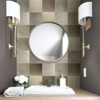 Argenta 6 in. x 6 in. Gold Ceramic Decorative Wall Tile (6-pack)