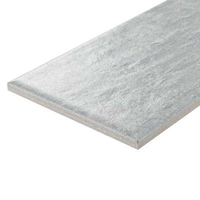 Stratos Gris 4 in. x 12-1/8 in. Porcelain Floor and Wall Tile (10.96 sq. ft. / case)