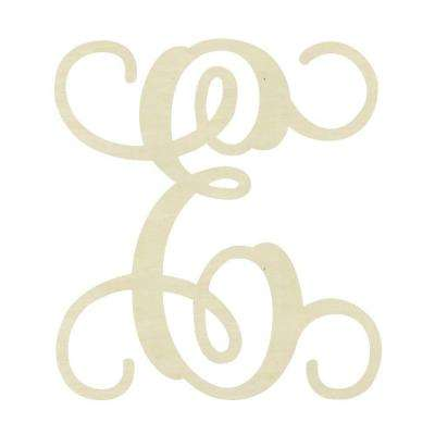 19.5 in. Unfinished Single Vine Monogram (E)