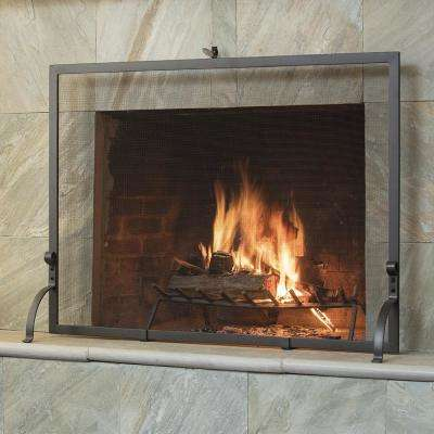 Olde World Iron 44 in. W Single-Panel Fireplace Screen