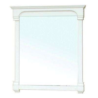 Sauceda 42 in. L x 42 in. W Solid Wood Frame Wall Mirror in Cream White