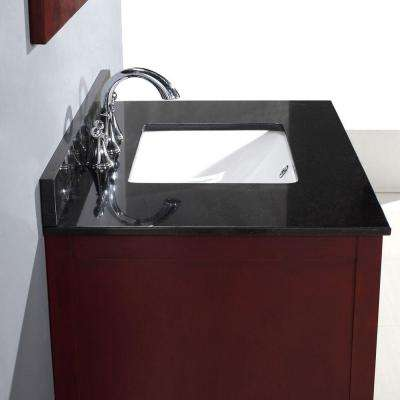 Austen 36 in. Vanity in Dark Cherry with Granite Vanity Top in Black