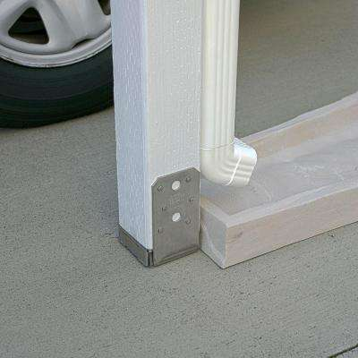ABU Stainless-Steel Adjustable Standoff Post Base for 4x4 Nominal Lumber