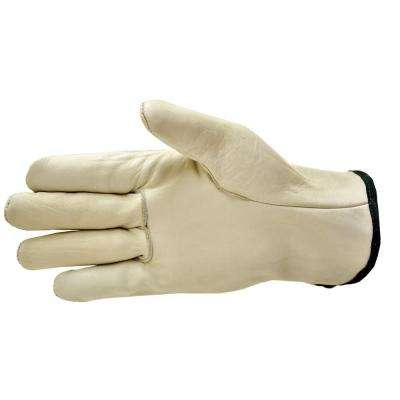 Premium Genuine Grain Cowhide Leather Gloves (3-Pair)