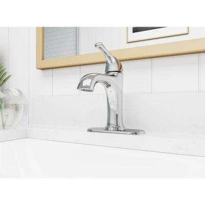 Ladera Single Hole Single-Handle Bathroom Faucet in Polished Chrome