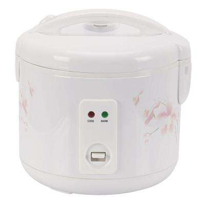 10-Cup Rice Cooker in White