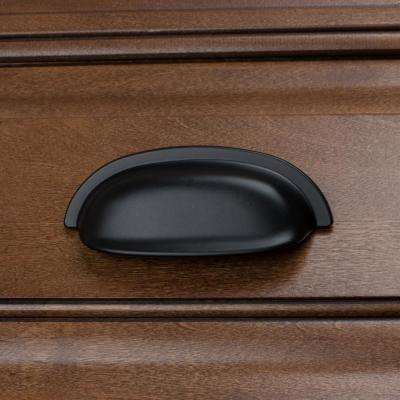 2-1/2 in. Center-to-Center Matte Black Classic Bin Cabinet Pulls (10-Pack)