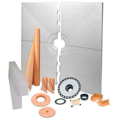 Kerdi 72 in. x 72 in. ABS Tileable Support Covering Shower Kit