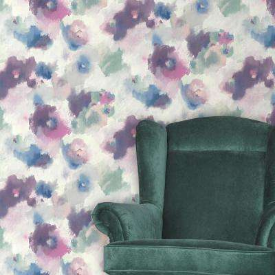 28.18 sq. ft. Impressionist Floral Peel and Stick Wallpaper