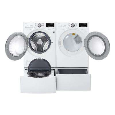 7.4 cu ft. Large Smart Stackable Front Load Electric Dryer with Sensor Dry, Pedestal Compatible & Wi-Fi Enabled in White