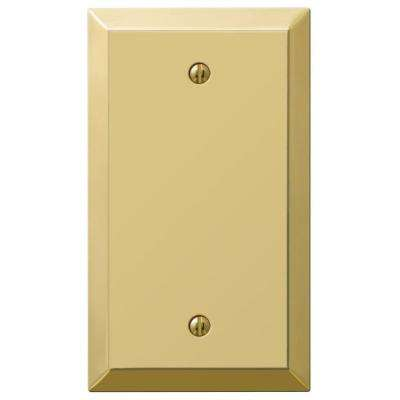 Century 2 Blank Wall Plate - Polished Brass