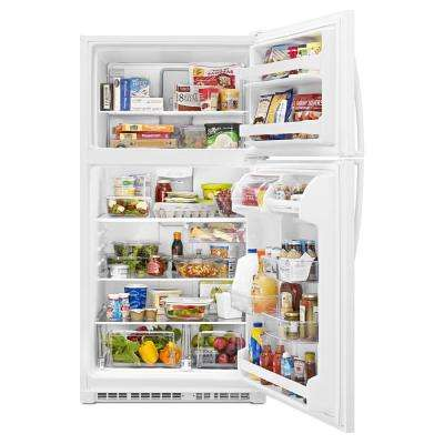 20.5 cu. ft. Top Freezer Refrigerator in White