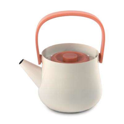 Ron 4.4-Cup Orange Teapot with Strainer
