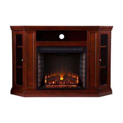Carter 48 in. Convertible Media Electric Fireplace in Cherry